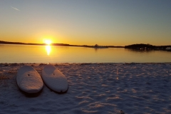 Husarö i vinterskrud. Foto: Eva Olsson